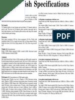 Fairey Swordfish Specifications