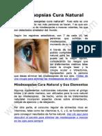 Miodesopsias Cura Natural y Remedios Seguros