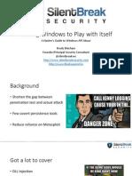 DEFCON 22 Brady Bloxham Windows API Abuse UPDATED