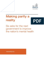 Making Parity a Reality - RCPsych Manifesto