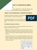 la comunicacin y el transporte en amrica