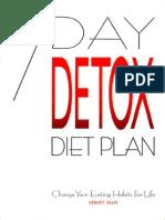 7-Day Detox Diet Plan
