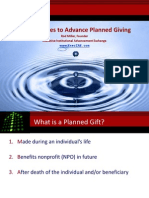 Best Practices to Advance Planned Giving