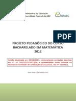 Projeto Pedagogico Bach Matematica 2012