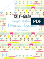Self Made 4 Week Weight Stalkers Journal