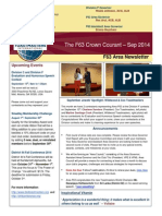 """""""The F63 Crown Courant"""" - Sep 2014 Newsletter for Area F63, District 44 Toastmasters"""