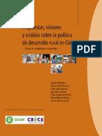 Propuestas, visiones y análisis sobre la política de desarrollo rural en Colombia