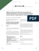 Influencia de La Presion Sobre La Mucosa Gingivial en La Medicion Algometrica de Un PG Del Musculo Masetero