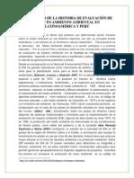 Desarrollo de La Historia de Evaluación de Impacto Ambiento Ambiental en Latinoamérica y Perú