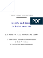 WattsNewmannDodds - Identity and Search in Social Networks