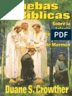 PRUEBAS BIBLICAS Sobre La Iglesia Restaurada y El Libro de Morman - Duane S. Cromrther