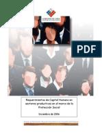 requerimientos capital humano, proteccion social 2006