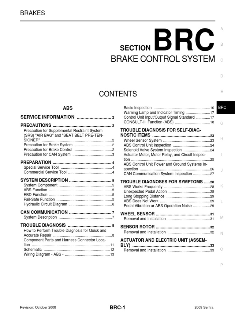 Brc Airbag Anti Lock Braking System 12 Volt Actuator Wiring Diagram Schematic