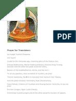 Prayer for Translators TrulshikRinpoche