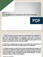 Formato Liquidacion de Sueldos