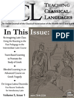 Teaching Classical Languages Fall 2013
