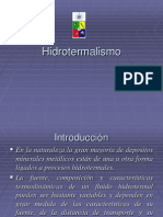 Introduccion Hidrotermalismo