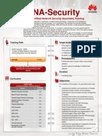 Huawei Certification Training Flyer-En-Security