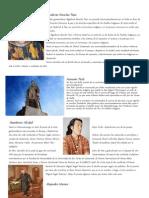 Personajes Ladinos e Indigenas