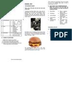 Burger Queen Worksheet
