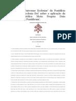 Instrução Universae Ecclesiae