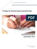 Hand and Wrist Pain Prevention
