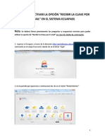 Pasos Para Activar La Opción de Recibir La Clave Por E-mail en El ECUAPASS