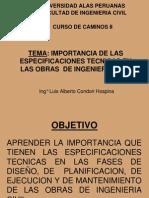 1. Presentación Especificaciones Tecnicas Uap