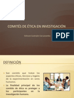 Comités de Ética en Investigación