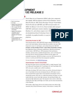 Odac 12cr2 Data Sheet 2088814 | Oracle Database | Microsoft