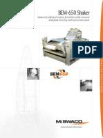 Balanced Eliptical Motion Shale Shaker (BEM-650)