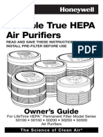 Honeywell 50250-N User Manual (True Hepa Germ Fighting Allergen Reducer Air Purifier)