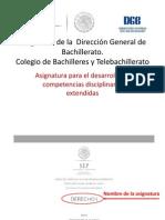 Programas de La Dirección General de Bachillerato