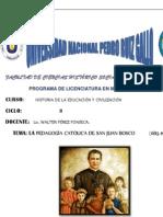 Pedagogìa Catòlica de San Juan Bosc1