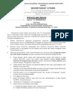 Pengumuman Seleksi Administrasi CPNS BNPB 2014