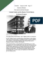 William Lemke and the Bank of North Dakota
