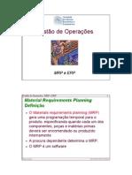 MRP_ERP - Gestão de Operacoes