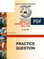 Minquiz National Oral Quiz 2009 With Answers 090828