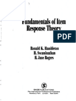 Ronald K. Hambleton-Fundamentals of Item Response Theory