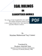 Animal Slaughter- Mufti Taqi