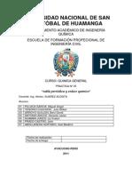 Informe de Quimica V