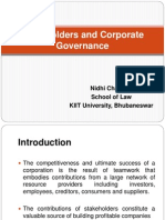 Stakeholders and Corporate Governance