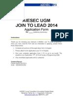 Join tnananao Lead 2014 Application Form