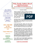 hfc september 14 2014 bulletin