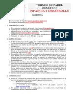 BASES Torneo Benefico Padel