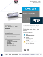 D LMK382 Submerisble Level Transmitter Ceramic Sensor
