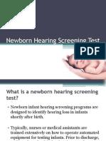 Newborn Hearing Screening Test
