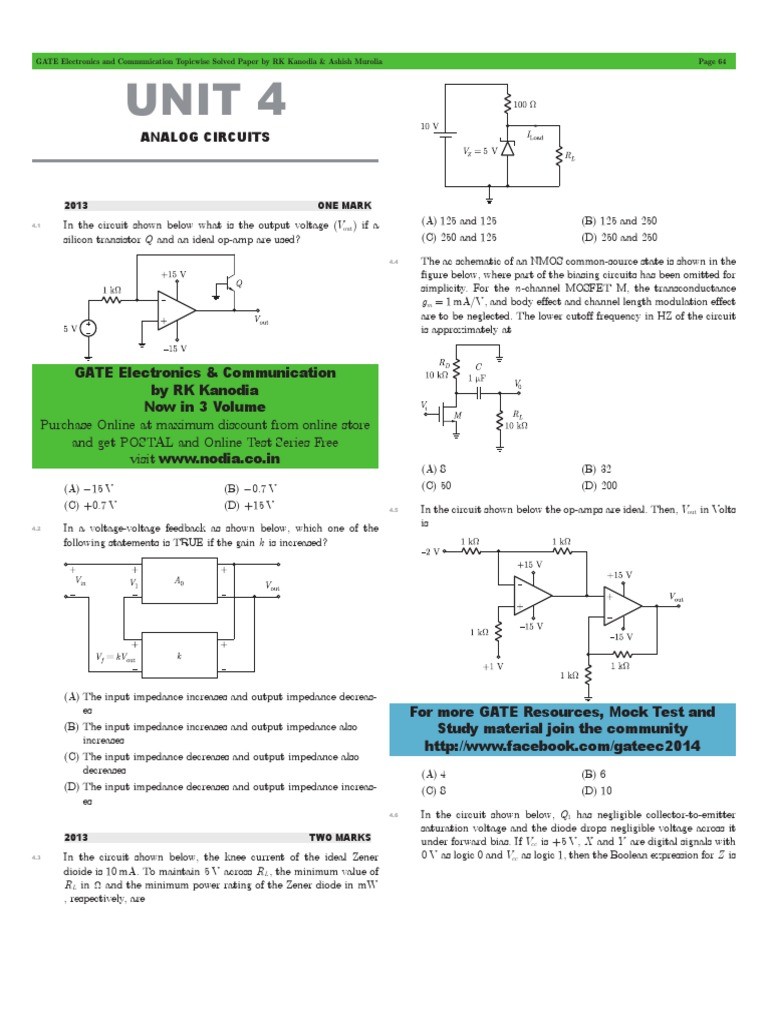 Analog Circuits 4 Amplifier Operational Reverse Bias Oscillator Circuit