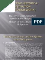 Philippine History & Institution Report