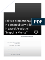 Politica Promotionala in Domeniul Serviciilor